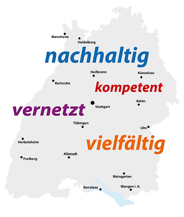 Karte Praxisworkshops Baden-Württemberg